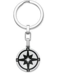 S.oliver Schlüsselanhänger Kompass Edelstahl IP Black - Schwarz