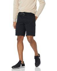 """Amazon Essentials 9"""" Inseam Elastic Waist Cargo Short - Black"""