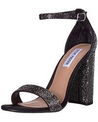 Steve Madden Carrson-r Heeled Sandal - Black