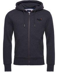 Superdry OL Classic Ziphood NS suéter - Gris