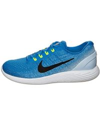 0862edf9aa1 Nike Lunarglide 9 Running Shoes in Blue for Men - Lyst