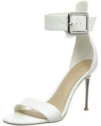 Guess Katrinna2/Sandalo (Sandal)/Lea Scarpe con Cinturino alla Caviglia Donna - Bianco