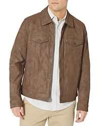 Levi's Suede Touch Trucker Jacket - Brown