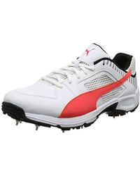 1a26f01cb8 Team Full Spike Cricket Shoes - White