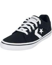 Converse OX e Baskets noir/blanc - Bleu