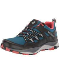 Columbia Wayfinder Outdry Low Rise Hiking Boots, Blue (lagoon, Coral), 4 Uk 37 Eu