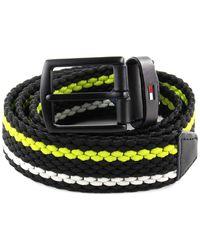 Tommy Hilfiger Stripe Belt 3.5 élastiques Denton Stripe Belt 3.5 W105 Lemon Lime - Multicolore
