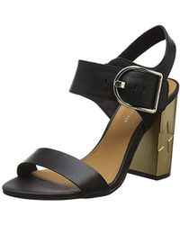Tommy Hilfiger - ''s Feminine Heel Oversized Buckle Ankle Strap Sandals - Lyst