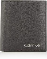 Calvin Klein Trifold 6CC W/Coin - Noir