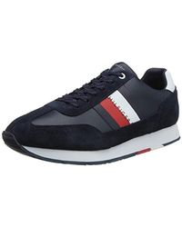 Tommy Hilfiger - Corporate Leather Flag Ru Low-top Sneakers - Lyst