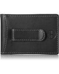Timberland Minimalist Front Pocket Slim Money Clip Wallet - Black
