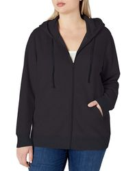 Amazon Essentials Plus Size French Terry Fleece Full-Zip Hoodie Fashion-Hoodies - Nero