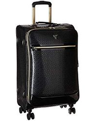"Guess Rancho 24"" 8-wheeler Suitcases, Black, 16"" X 8.5"" X 24"""