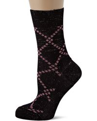 Tommy Hilfiger Th Sock 1p Argyle Lurex Calf - Grey