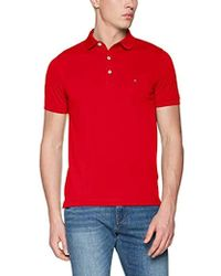 0047b81d0 Tommy Hilfiger Long Sleeve Polo Shirt in Red for Men - Lyst