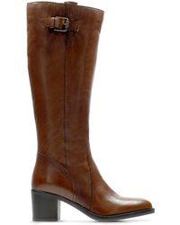 Clarks Mascarphone Ela Tan Leather 7 M - Marrone
