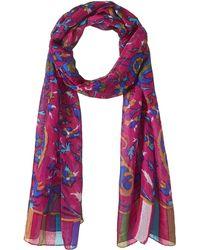 HIKARO 100% Silk Scarf Lightweight Sunscreen Wrap Paisley Art - Multicolour