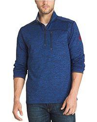 G.H.BASS - Long Sleeve Melange 1/2 Zip Mock Shirt - Lyst