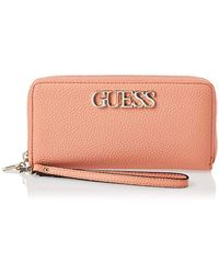 Guess Uptown Chic Slg Lrg Zip Around, Sac à bandoulière - Multicolore