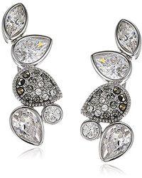 Judith Jack - Sterling Silver Swarovski Marcasite Crawler Stud Earrings - Lyst