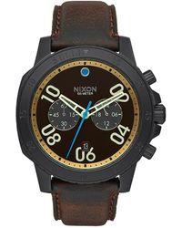 Nixon S The Ranger Leather Chronograph Watch A940-2209 - Multicolour