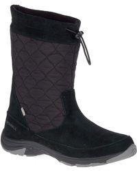 Merrell S/ladies Approach Ltr Waterproof Winter Snow Boots - Black