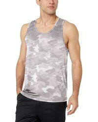 Amazon Essentials Tech Stretch Tank fashion-t-shirts - Blanc