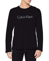 Calvin Klein L/S Crew Neck T-Shirt Uomo - Nero