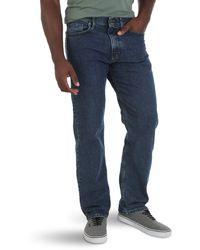 Wrangler Big & Tall Comfort Flex Waist Relaxed Fit Jeans - Blau