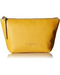Liebeskind Berlin Mainef8 Leather Cosmetic Case - Yellow