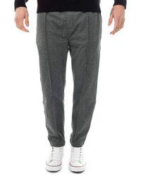 Calvin Klein Slim Melange Side Stripe Jogger Pantaloni - Grigio