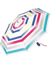 Esprit Easymatic Light Summer Stripes Pocket Umbrella - Multicolour