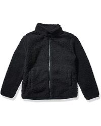 Amazon Essentials Full-Zip High-Pile Polar Fleece Jacket Outerwear-Jackets - Negro