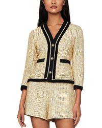 BCBGMAXAZRIA Summer Tweed Blazer - White