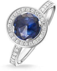 Thomas Sabo 925 Argent Silver Bleu Zircon - Métallisé