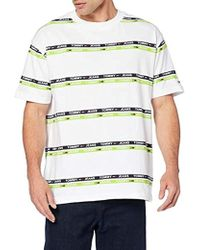 Tommy Hilfiger Tjm Signature Stripe Logo Tee T-Shirt Uomo - Bianco