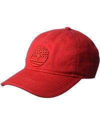 Timberland Cotton Canvas Baseball Cap - Rot