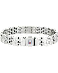 Tommy Hilfiger Jewellery Men Stainless Steel Link Charm Bracelet - 2701062 - Metallic