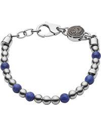 DIESEL Acier Bracelet en chaîne - DX1196040 - Métallisé