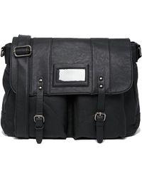 French Connection S Messenger Bag Shoulder Strap Laptop Sleeve Black