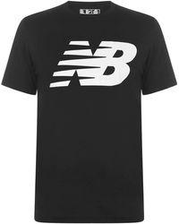 New Balance - S Logo Graphic Qt T Shirt Black Large - Lyst