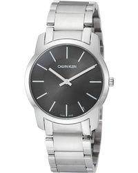 Calvin Klein Reloj Analógico-Digital para Adultos de Cuarzo con Correa en Acero Inoxidable K2G22143 - Negro