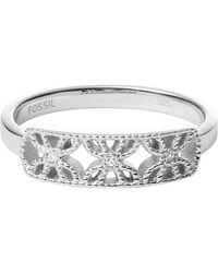 Fossil Jfs00529040-6.5 Ladies Ring - Metallic