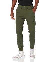 Calvin Klein Slim Cuffed Chino Pant Pantalones - Verde