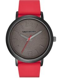 Skechers Ardmore Quartz Casual Sports Silicone Three-hand Analog Watch - Red