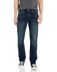 True Religion Ricky Straight Leg Jean With Back Flap Pocket - Blue