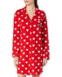 Women'secret ' Secret Camisón ga Larga Estampado Lunares Camisola - Rojo