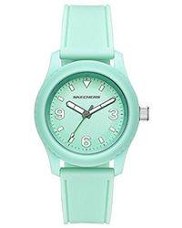 Skechers - Quartz Plastic And Silicone Casual Watch, Color:green (model: Sr6146) - Lyst