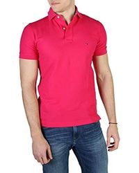 Tommy Hilfiger Polo - Uni - Manches courtes - Rose