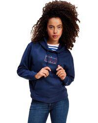 Tommy Hilfiger Tjw Outline Flag Hoodie Sweater - Bleu
